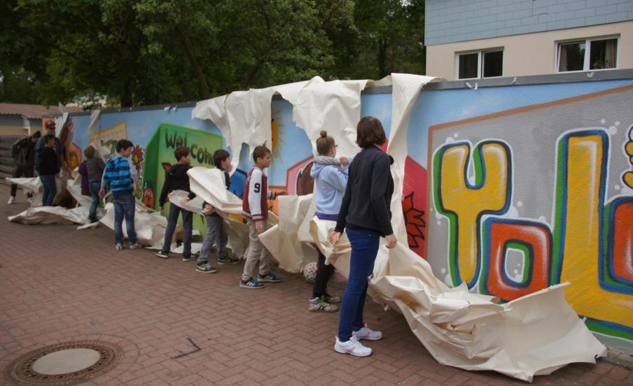 Farbenfrohes Graffiti im CEK