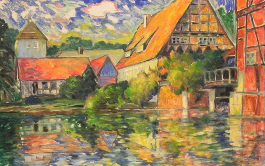 Ausstellung und Versteigerung in der Gotischen Halle vom 22. bis 27. Mai: Farbwanderungen mit Herbert Staps