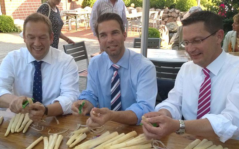 CDU Spargelessen stimmt auf Wahlkampf ein