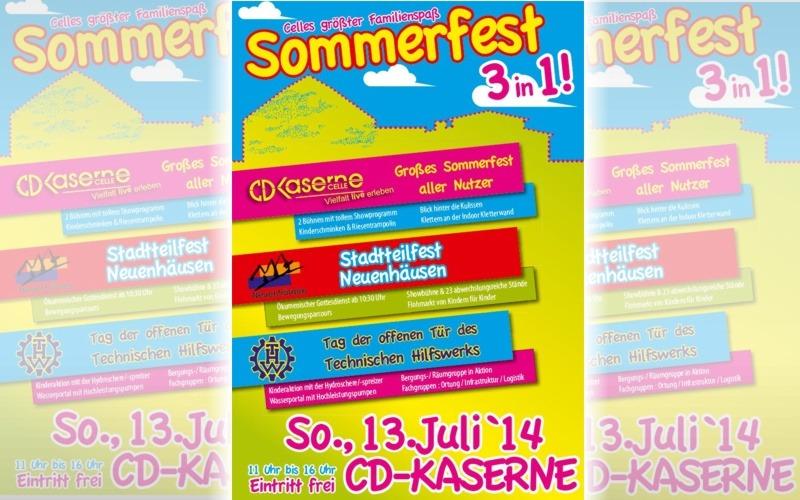 Am Sonntag startet das Sommerfest 3in1 in der CD-Kaserne – Über 10.000 Besucher erwartet