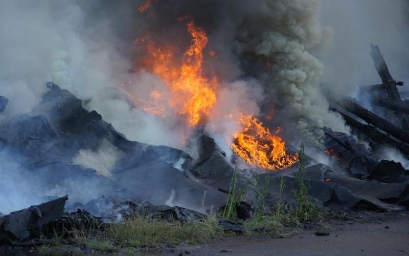 DLRG-Gebäude am Celler Hafen Raub der Flammen