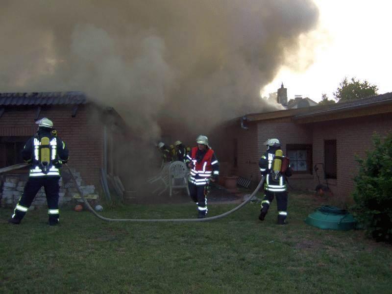 Dachstuhlbrand in Wieckenberg