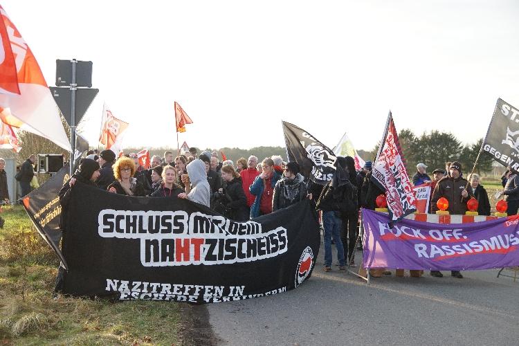 Demonstration gegen Nazitreffen in Eschede