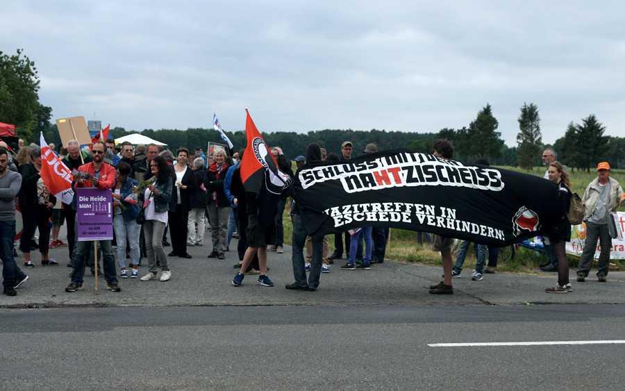 Demo in Eschede: Nazitreffen auf dem Hof Nahtz nimmt größere Dimensionen an