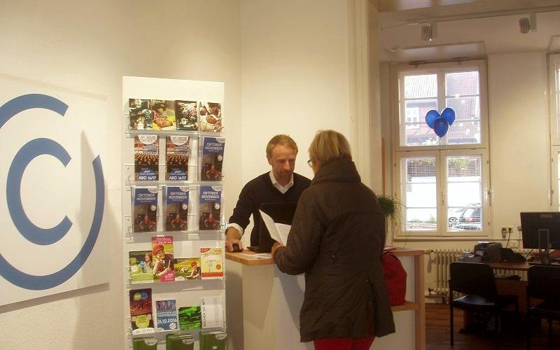 """Die Neueröffnung der Theaterkasse des Schlosstheaters Celle wurde heute mit einem """"Tag der offenen Tür"""" gefeiert"""
