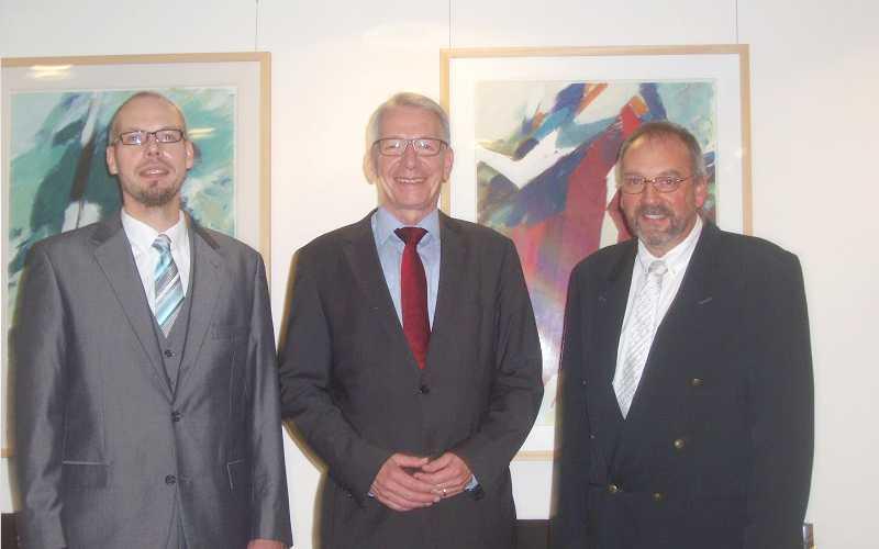 Ernennung des neuen Bezirksschornsteinfegers Tobias Buck – Verabschiedung des Vorgängers Uwe Dieterich