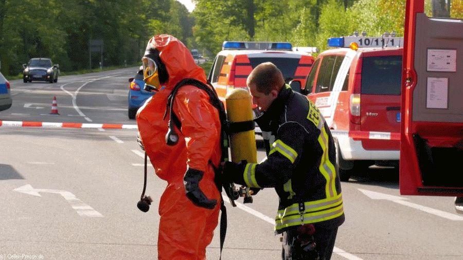 Gefahrguteinsatz auf der B214