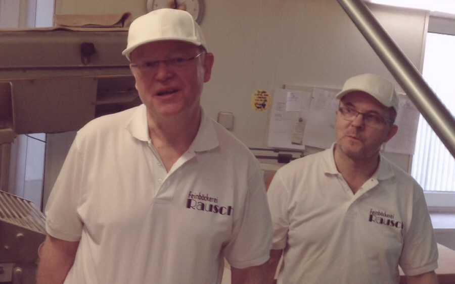 Ministerpräsident Stephan Weil als engagierter Bäcker-Lehrling in der Feinbäckerei Rausch