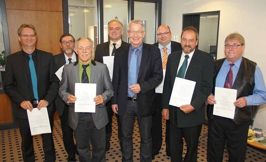 Neue Bezirksschornsteinfegermeister für 2015 bestellt