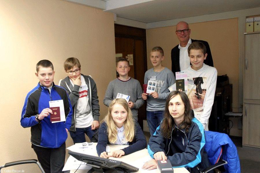 Schülerinnen und Schüler besuchen Rathaus am Zukunftstag