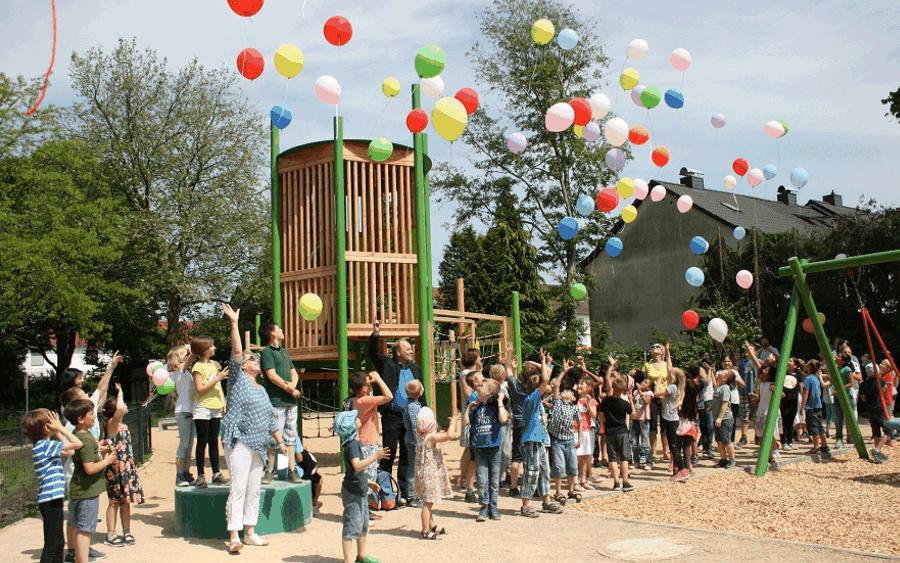 Spielplatz in der Tavistockstraße offiziell eingeweiht