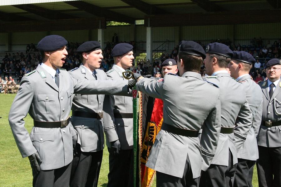 Vereidigung im Feldwebel- und Unteroffizieranwärterbataillon 2 in Celle/Wietzenbruch