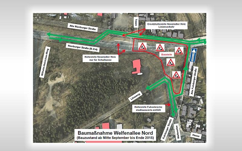 Welfenallee: Zwei Kreisel sollen für besseren Verkehrsfluss sorgen
