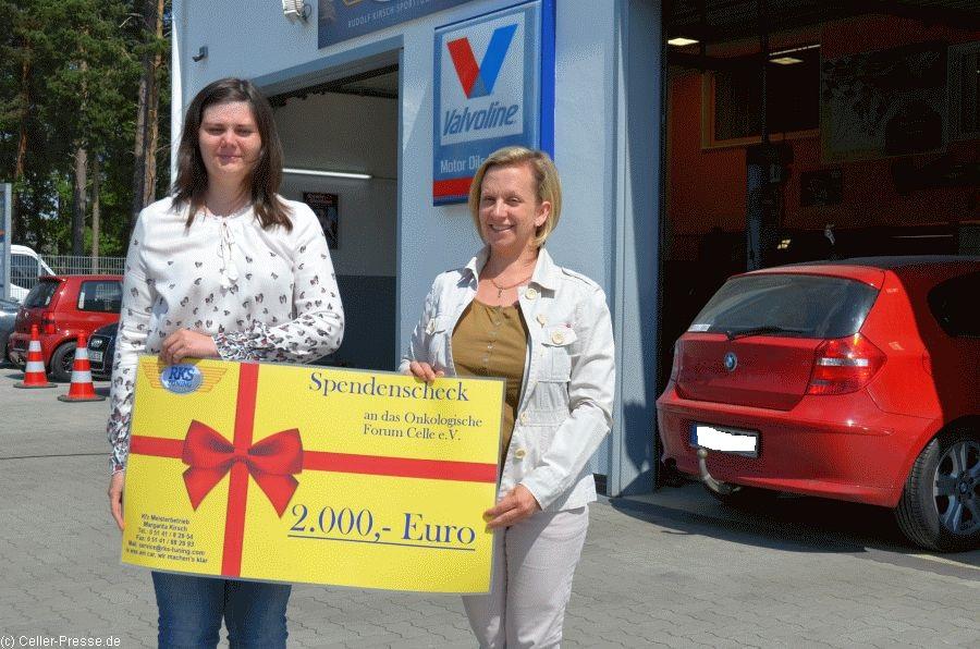 RKS-Tuning spendet 2.000 Euro ans Onkoforum