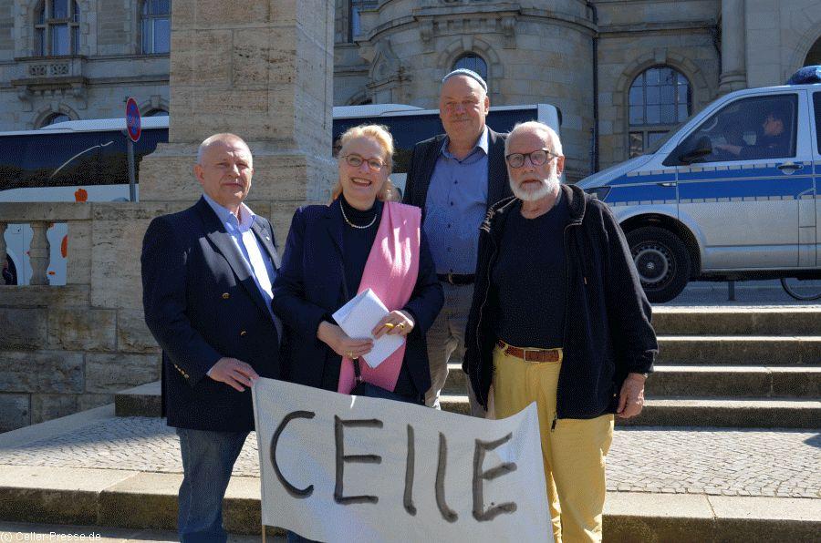 """Auch Celler Teilnehmer beim """"Kippa-Walk"""" in Hannover"""