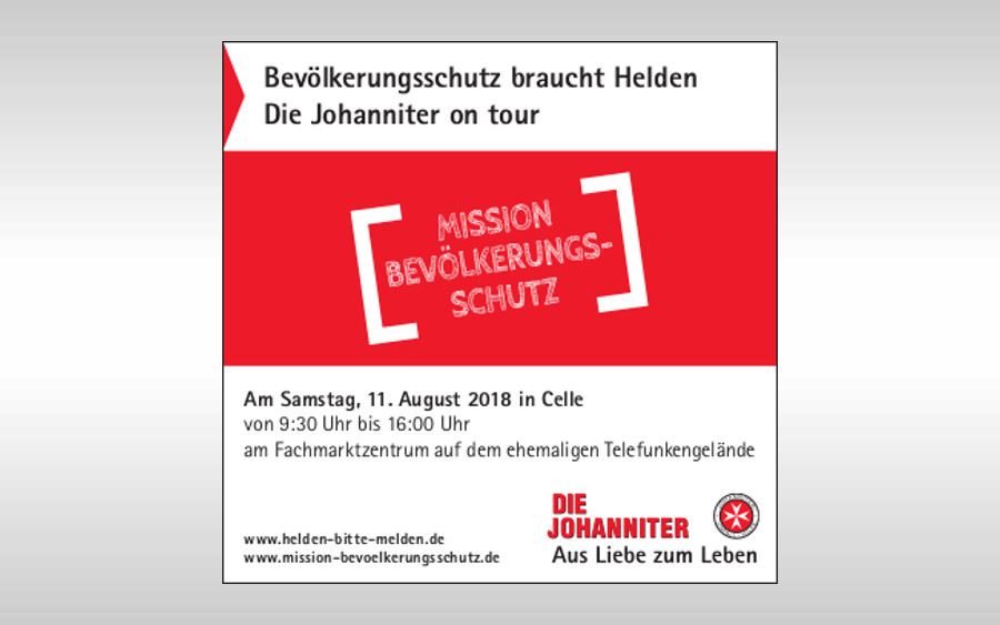 """Mission Bevölkerungsschutz: Johanniter on tour"" macht Station in Celle"