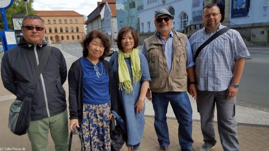 Japanische Gäste aus Yotsukaido in Celle