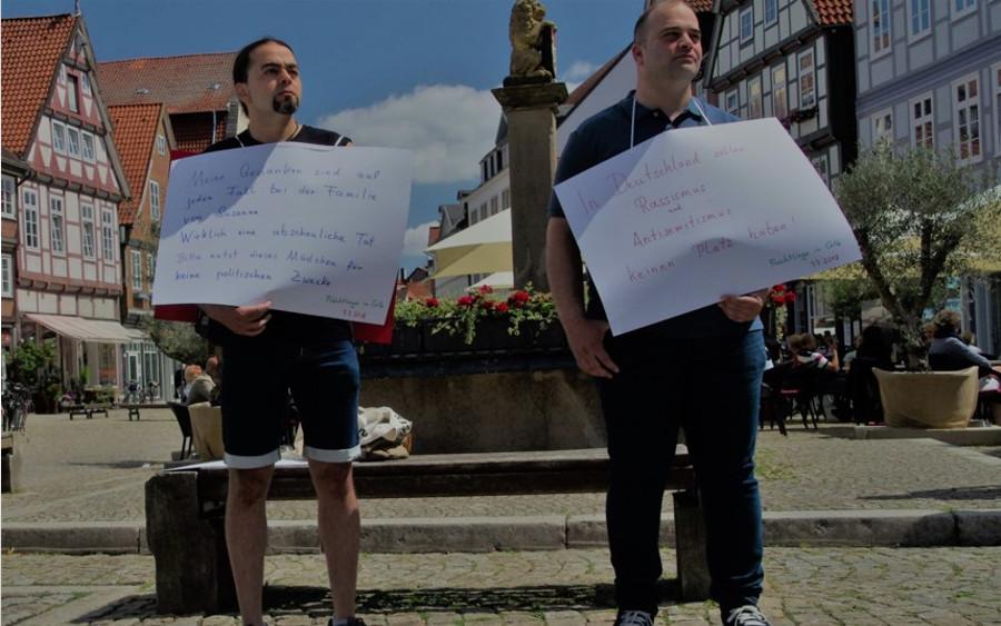 """Mahnwache: """"Kein Platz für Rassismus und Antisemitismus"""""""
