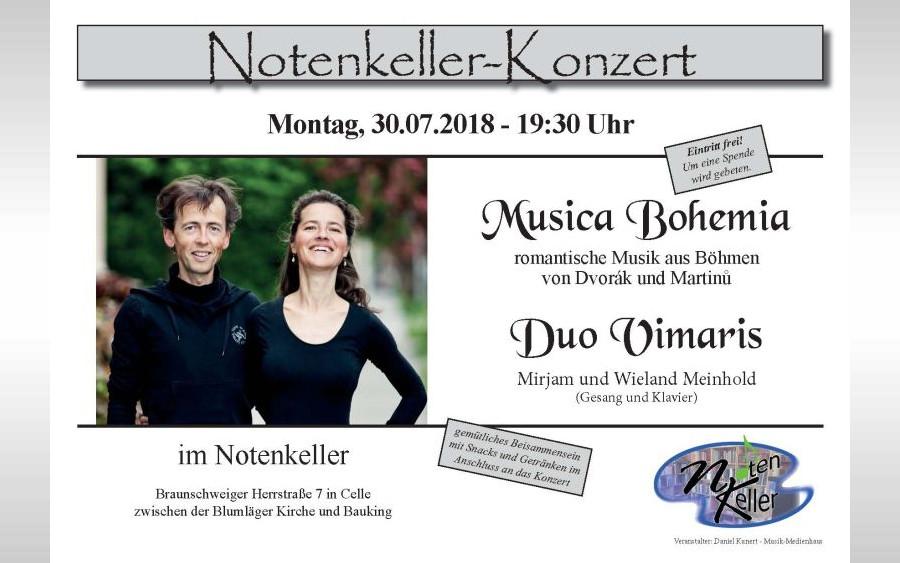 """Notenkeller-Konzert """"MUSICA BOHEMIA"""""""