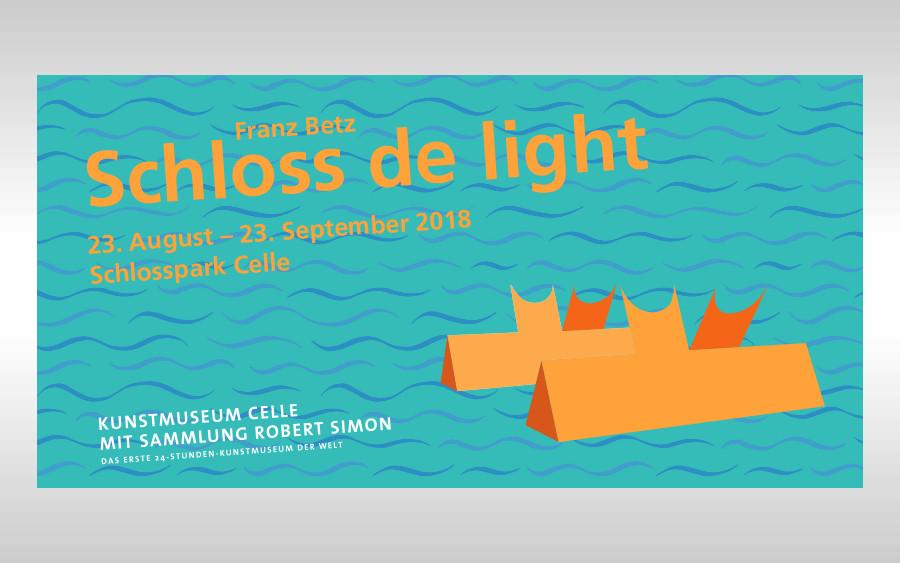 Schloss de light – Lichtkunstprojekt von Franz Betz im Schlosspark