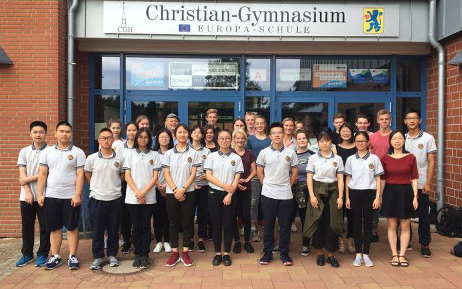 Christian-Gymnasium Hermannsburg empfing Besuch aus Chongqing
