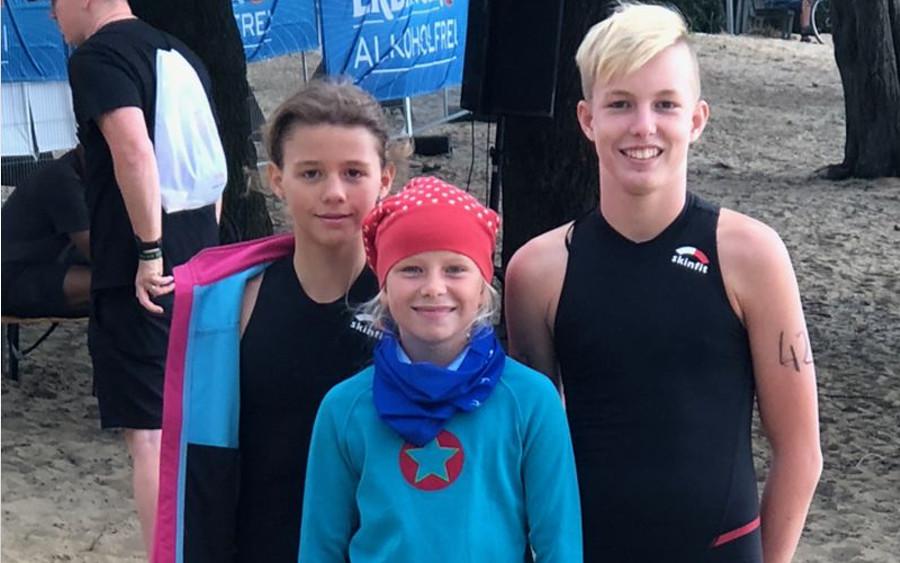 Erfolgreiche Triathleten des SV Nienhagen beim 6. Altwarmbüchener Triathlon