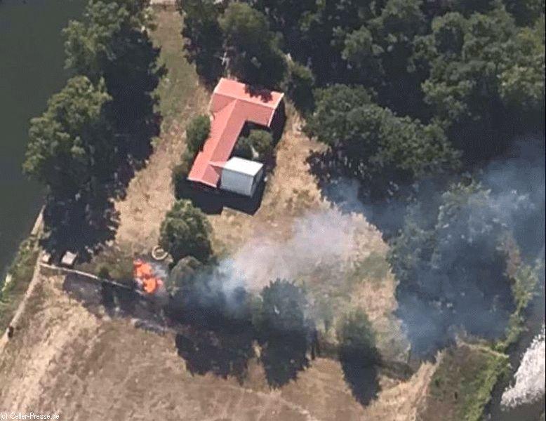 Flächenbrand am Oppershäuser Aller-Wehr