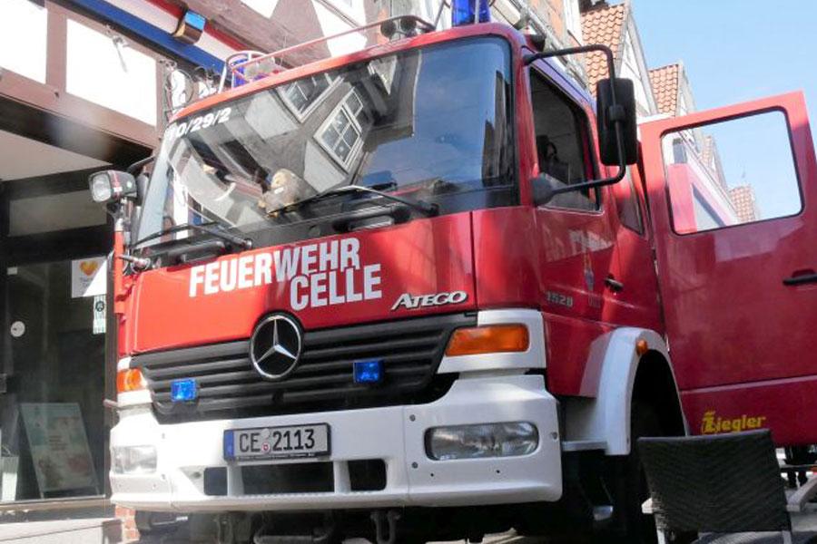 Küchenbrand in einem Restaurant in der Celler Altstadt