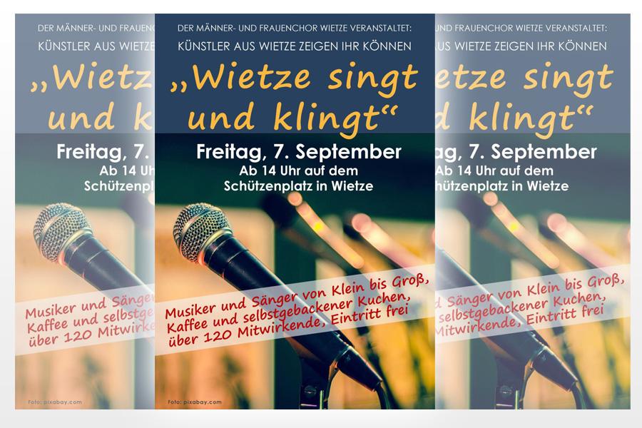 """""""Wietze singt und klingt"""": Künstler zeigen ihr Talent"""