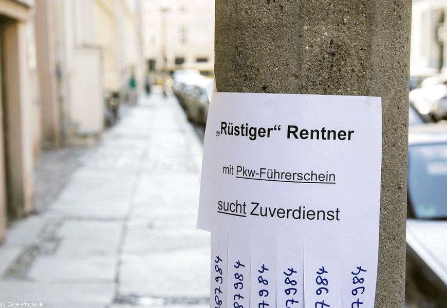 7.100 Vollzeit-Beschäftigten im Landkreis Celle könnte im Alter Hartz IV drohen