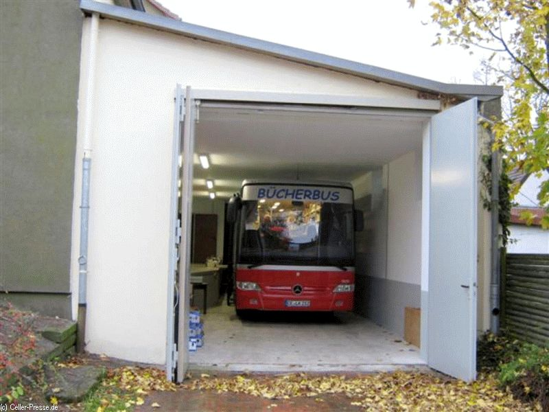 Bücherbus bleibt bis zum Jahresende in der Garage – Kreisfahrbücherei bietet weiterhin kontaktlosen Abholservice in Eschede an