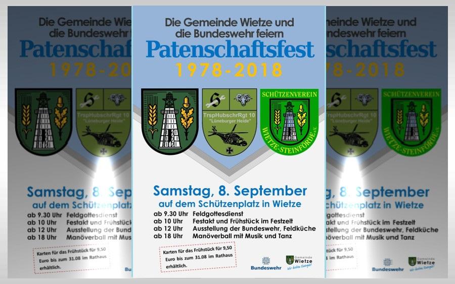 Gemeinde Wietze und Bundeswehr feiern Patenschaft