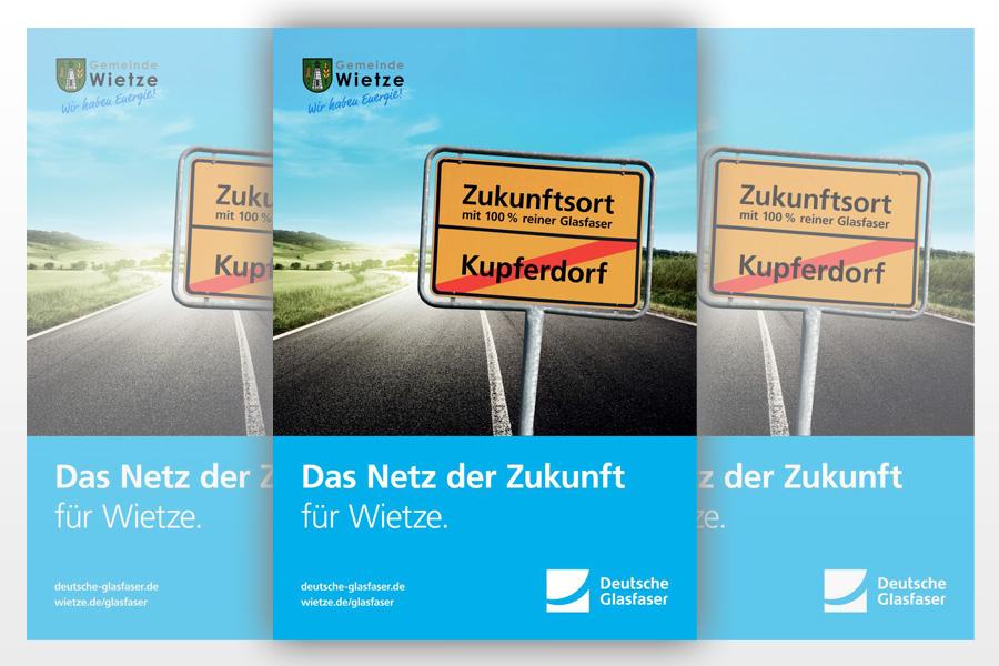 """Bürgermeister Wolfgang Klußmann appelliert:  """"Unterstützen Sie das Zukunftsprojekt! Glasfaser für Wietze"""""""