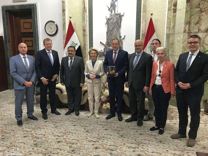 Henning Otte und Ursula von der Leyen treffen den irakischen Verteidigungsminister