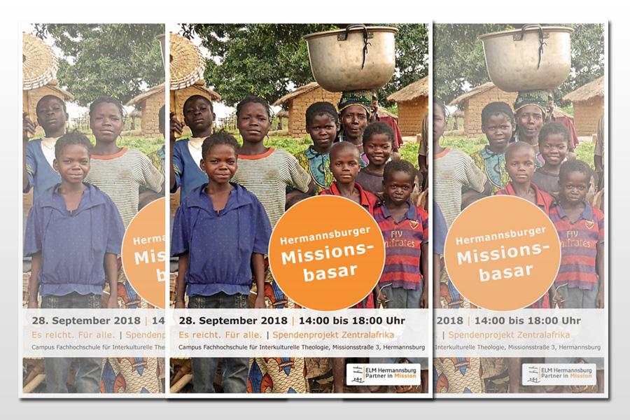 """""""Es reicht. Für alle."""" – Hermannsburger Missionsbasar, 28. September, 14 – 18 Uhr"""