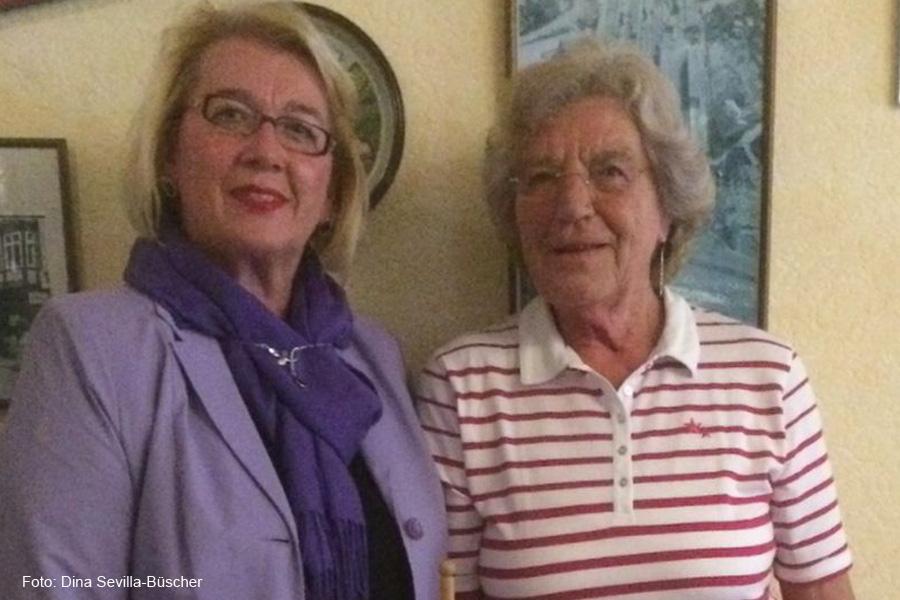 Sabine Kellner referiert über Aktionen des SoVD-Kreisverbandes Celle
