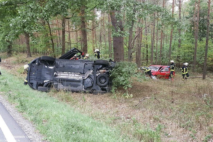 Verkehrsunfall auf der B214 zwischen Celle und Hambühren
