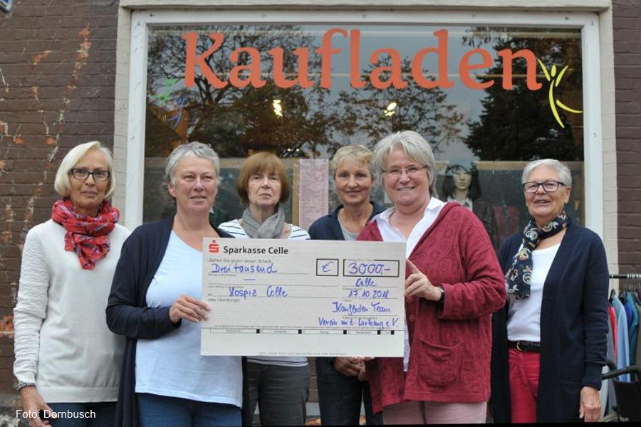 Hospiz-Haus erhält 3.000-Euro-Spende vom Sozialkaufhaus Kaufladen