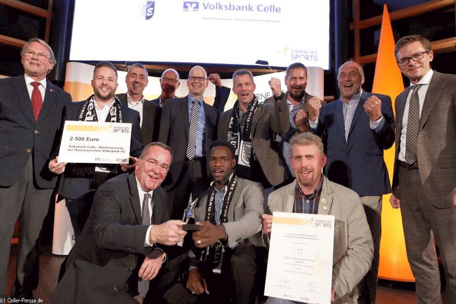"""Wettbewerb """"Sterne des Sports"""": TuS Eschede gewinnt """"Großen Stern in Silber"""" 2018"""