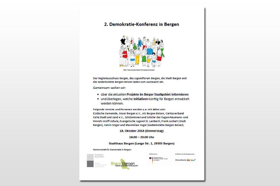 Zweite Demokratiekonferenz in Bergen