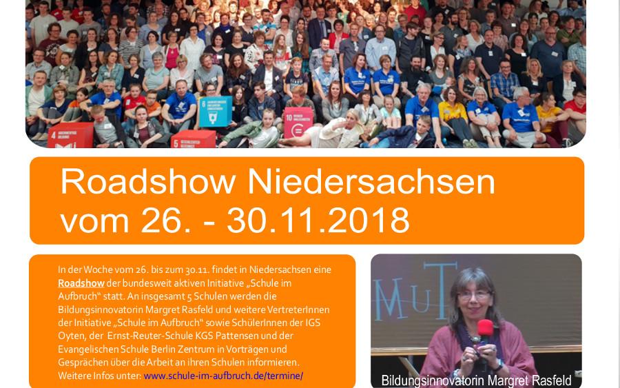 """""""Schule im Aufbruch Roadshow Niederachsen 2018"""""""