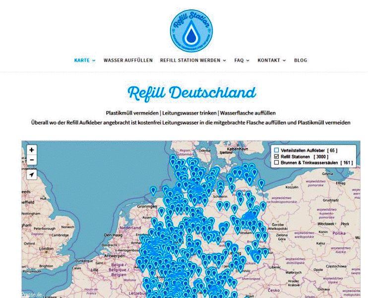 Deutschlandweit jetzt über 3000 REFILL-STATIONEN!
