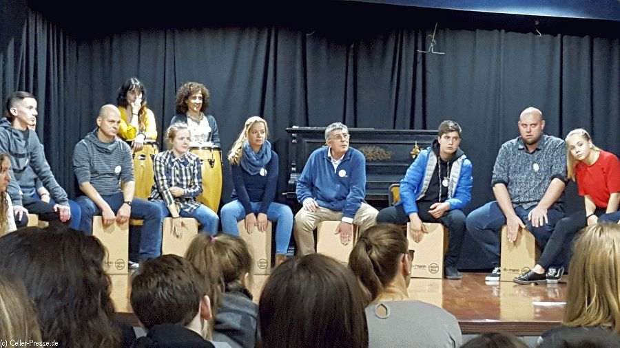 Erasmusgruppe des  Christian-Gymnasiums zu Besuch  in Madrid