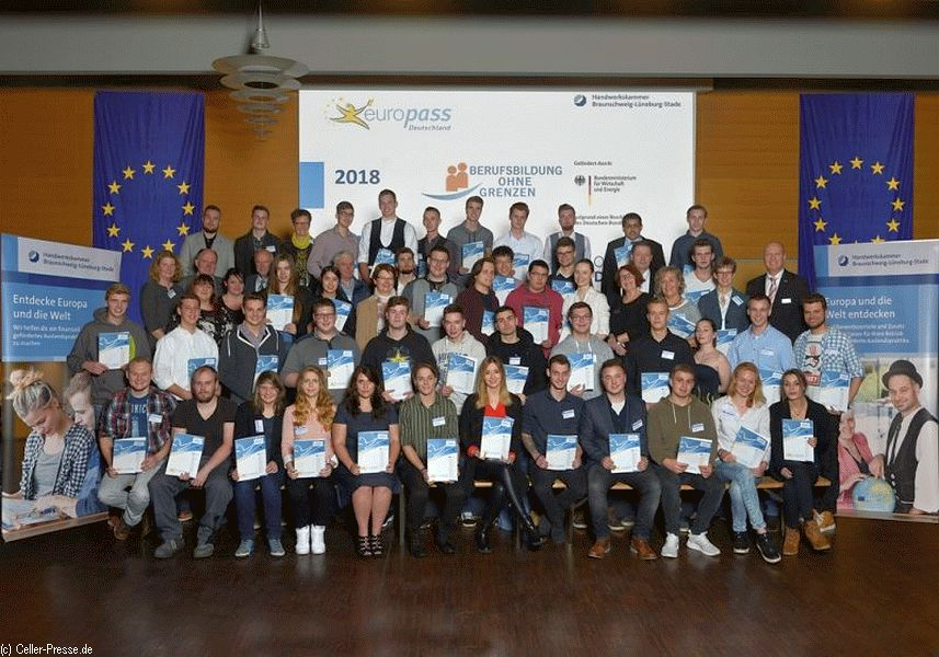 Europass-Verleihung: 45 Auszubildende erhalten ein Zertifikat für ihr Auslandspraktikum