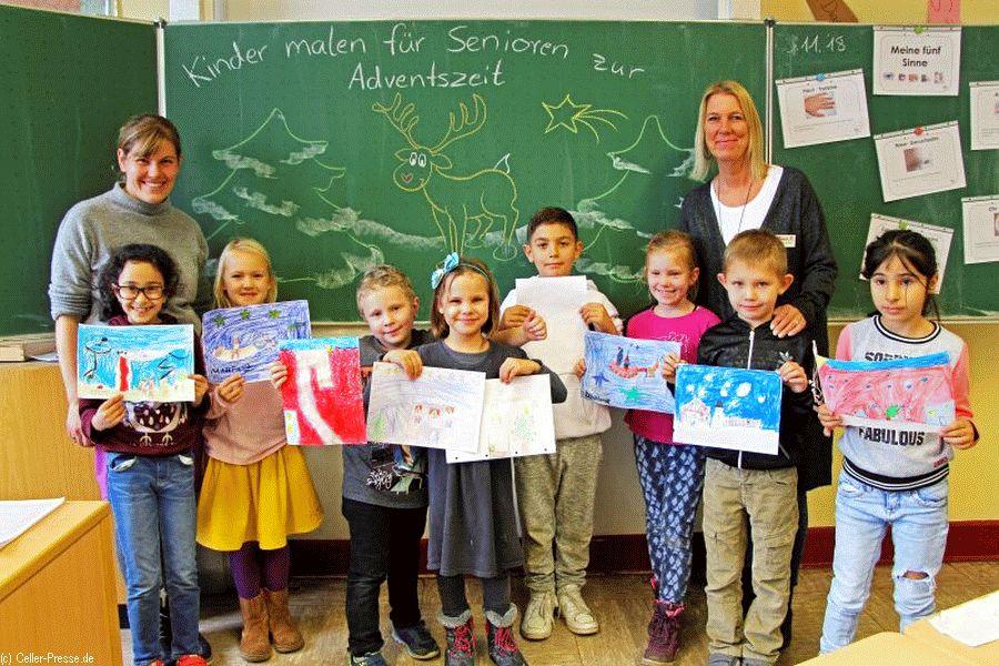 Kleine Geste – große Wirkung: Celler Kinder malen für Senioren zur Adventszeit