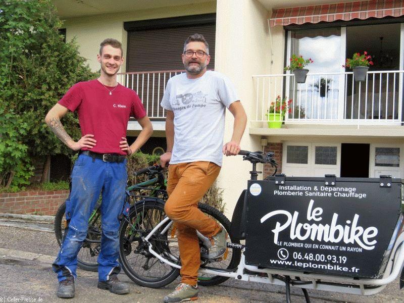 Mit dem Fahrrad zum Kunden