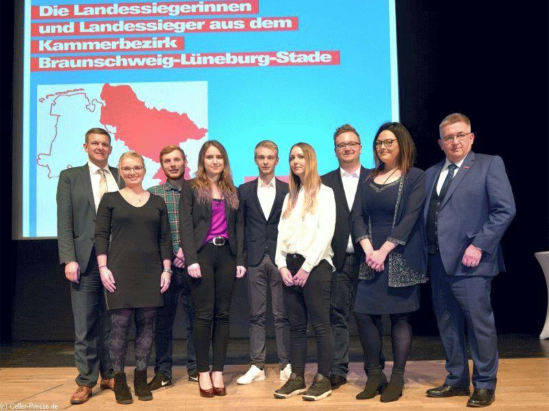 Niedersachsens beste Nachwuchshandwerker wurden am Montag in Celle geehrt. 11 stammen aus dem Bezirk der Handwerkskammer Braunschweig-Lüneburg-Stade.