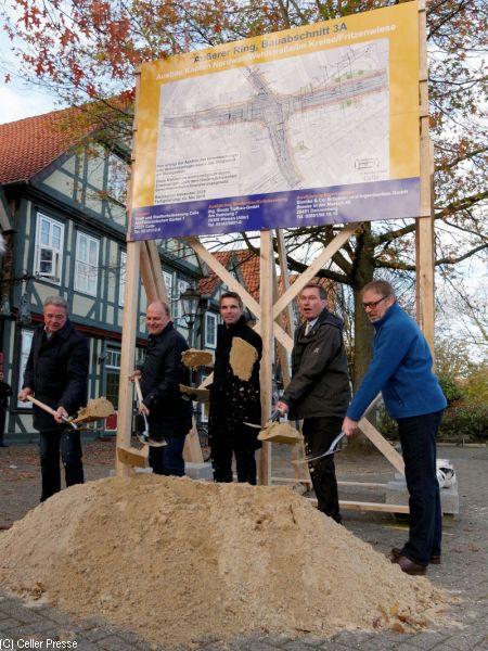 Projekt gegenläufig befahrbarer Nordwall: Baumaßnahmen beginnen am Knoten  Nordwall/Wehlstraße/Im Kreise/Fritzenwiese