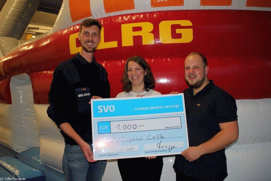 SVO spendet 1.000 Euro an DLRG Jugendsparte Celle