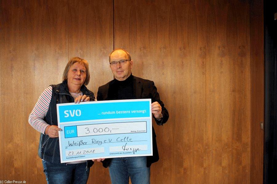 SVO spendet 3.000 Euro an Weißer Ring Celle